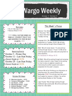 oct 1 - oct 5 newsletter