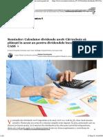 Calculator Dividende 2018_ Cât Trebuie Să Plătești În Acest an Pentru Dividendele Încasate - Impozit Și CASS