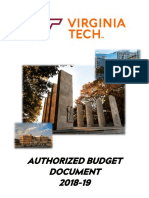 VT Authorized Budget Document 2018-2019