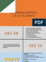 Diferencias Entre El CIE Y DSMIV