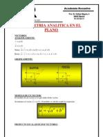 Vectores y Geometria Analitica en El Plano