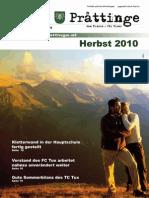Herbstausgabe 2010 der Tuxer Ortszeitung Prattinge