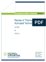 Review of Thermally Activated Technologies