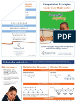 grade 4 computation strategies brochure