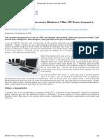 Comparação de Novos Recursos Windows 7 Mac OS Snow Leopard e Ubuntu
