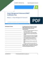 PMP Module 1 preparation