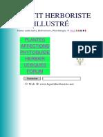 Le Petit Herboriste Plantes Medicinales Illustré 727 Pages