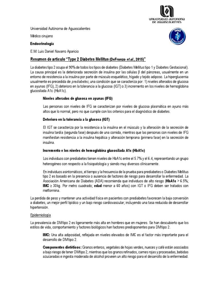 criterio diagnostico pre diabetes a1c niveles