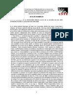 ACTA DE ASAMBLEA DE LA DELEGACIÓN SINDICAL De criterios