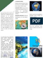 triptico geografia