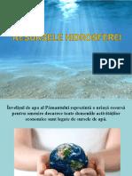 XI Resursele Hidrosferei