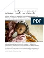 0 ONU 87 Millones de Personas Sufren HAMBRE