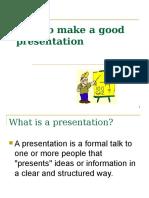 Good Presentation Skills