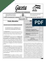 Decreto Ejecutivo PCM 010 2018
