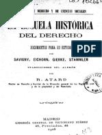 R. Atard - La Escuela Historica Del Derecho