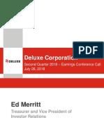 DLX Earnings Presentation Q2 2018