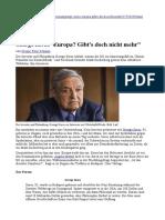 George Soros - Europa - Gibt's Doch Nicht Mehr - Wiwo.de - 04-01-2016
