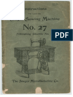 Singer vs 2 Model 27 Manual