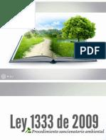Ley 1333 de 2009 (Derecho Ambiental)