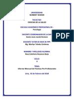Enero Modelo Ejemplo de Informe Mensual Rc