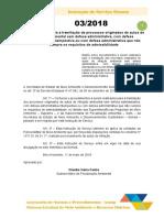 Is 03-2018 - Procedimentos Para a Tramitação de Processos Originados de Autos de Infração Ambiental Sem Defesa Administrativa Com Defesa Administrativa Intempestiva Ou Com Defesa Administrativa Que Não Cum