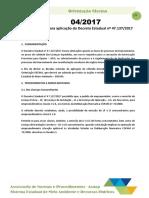 OS 04-2017 - Orientações Para Aplicação Do Decreto Estadual Nº 47.137-2017
