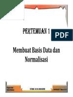 Normlisasi Database