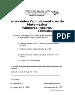 Atividades Complementares de  Matematica sexta serie (1).doc