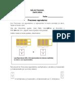 Guía de Fracciones Equivalentes