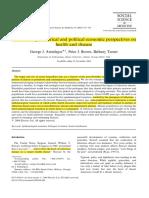 Perspectivas evolucionarias, historicas, economicas y politicas de la salud y la enfermedad