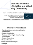 Intentional and Incidental Discourse Variables in a Virtual Learning Community