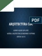 arquitectura del cisc