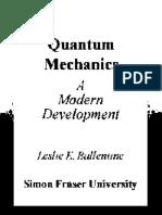 Ballentine L. Quantum Mechanics - A Modern Development (1998)(T)(673s)