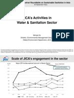 JICA's Activities in Water & Sanitation Sector