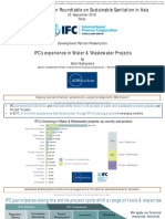 IFC's experience in Water & Wastewater Projects