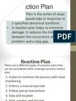 Reaction Plan