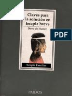 CLAVES PARA LA SOLUCIÒN EN TERAPIA BREVE - Steven de Shazer -.pdf