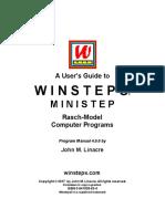 Linacre (2017) Manual del Winsteps