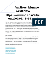 Best Practices Cash