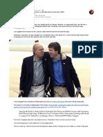 Brett Kavanaugh and Karl Rove share an unidentified (secret?) lapel button (2004)