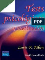 Tests Psicologicos y Evaluacion Aiken