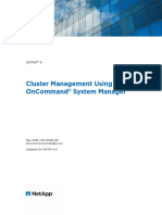 Cluster Management Using OnCommand System Manager
