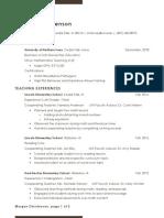 resume  curriculum