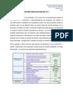 Informe Simulador Matriz d