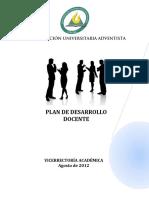 Plan de Desarrollo Docente