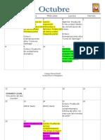 Calendario de Evaluaciones Octubre
