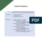 final - m1-analysis summary