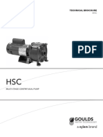 Goulds Pumps HSC Multi Stage Centrifugal Pump Technical Brochure