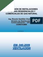 Supervision de Inst. Residenciales y Comerciales de Gas Natural-VENTILACION