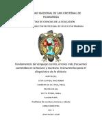 Fundamentos Del Lenguaje Escrito.